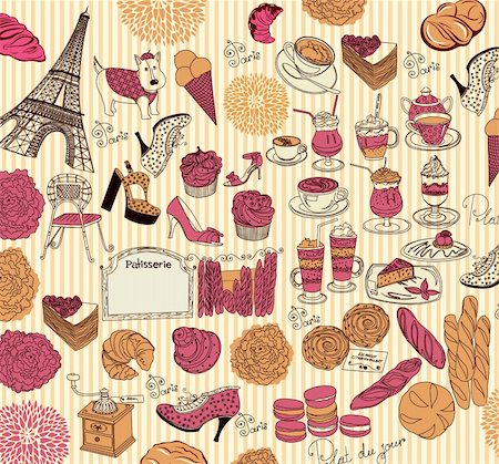 Vector Collection symbols of Paris Stock Photo - Budget Royalty-Free & Subscription, Code: 400-05326720