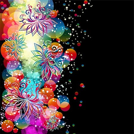 Abstract floral background with oriental flowers. Stock Photo - Budget Royalty-Free & Subscription, Code: 400-05329848