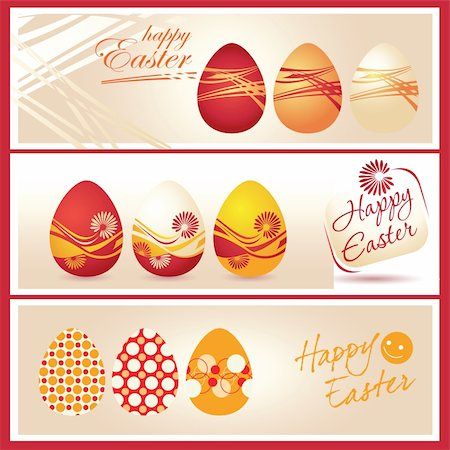 Vector illustration - Colorful Easter eggs and logo Happy Easter Stock Photo - Budget Royalty-Free & Subscription, Code: 400-05320051