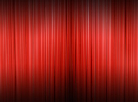 Red curtain of a classical theater Stock Photo - Budget Royalty-Free & Subscription, Code: 400-05322652