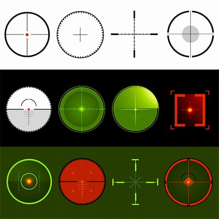 scope - Vector Target Crosshairs Stock Photo - Budget Royalty-Free & Subscription, Code: 400-05338748