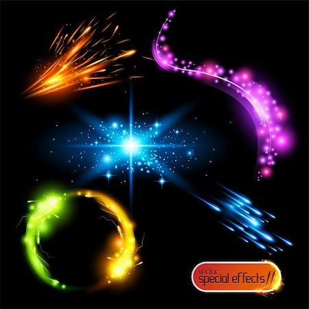 sparks illustration - Vector Special Effects Set 2 Stock Photo - Budget Royalty-Free & Subscription, Code: 400-05338757