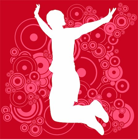 simsearch:400-04222950,k - young man jump on the abstract background - vector Stock Photo - Budget Royalty-Free & Subscription, Code: 400-05332279