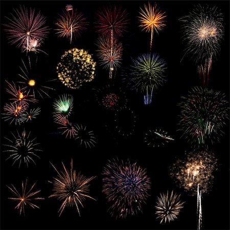 Different types of fireworks Stock Photo - Budget Royalty-Free & Subscription, Code: 400-05332487