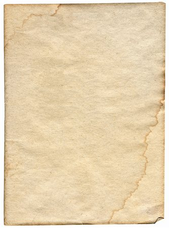 piece of stained paper isolated on white background Stock Photo - Budget Royalty-Free & Subscription, Code: 400-05332495