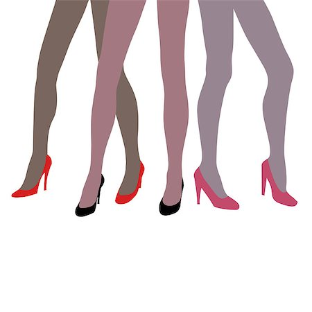 simsearch:400-04096935,k - sexy vector elegant woman legs Stock Photo - Budget Royalty-Free & Subscription, Code: 400-05344172