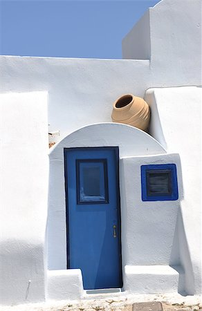 summer vacation on beautiful vulcanic island santorini at greece Stock Photo - Budget Royalty-Free & Subscription, Code: 400-05344748