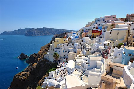 summer vacation on beautiful vulcanic island santorini at greece Stock Photo - Budget Royalty-Free & Subscription, Code: 400-05344794