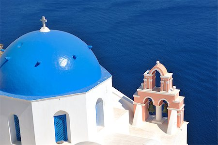 summer vacation on beautiful vulcanic island santorini at greece Stock Photo - Budget Royalty-Free & Subscription, Code: 400-05344791