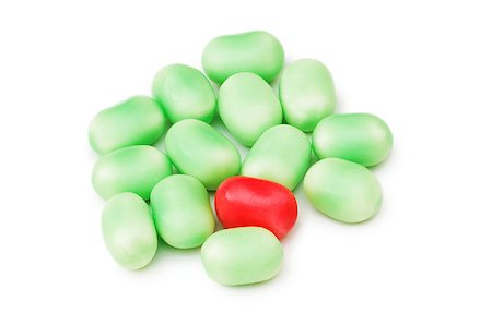 simsearch:400-04344039,k - Stand out from crowd concept with jelly beans Stock Photo - Budget Royalty-Free & Subscription, Code: 400-05346291