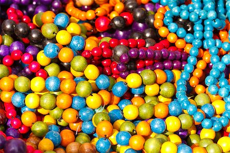 Close up of colorful necklace pil Stock Photo - Budget Royalty-Free & Subscription, Code: 400-05346935