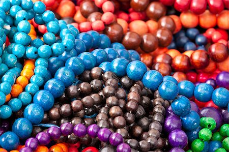 Close up of colorful necklace pil Stock Photo - Budget Royalty-Free & Subscription, Code: 400-05346937