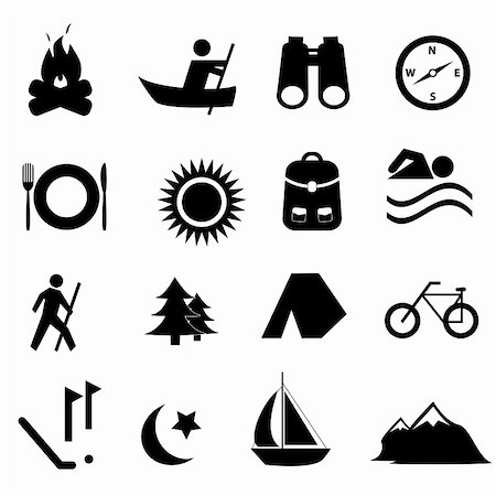 soleilc (artist) - Leisure, sports and recreation icon set Stock Photo - Budget Royalty-Free & Subscription, Code: 400-05358786