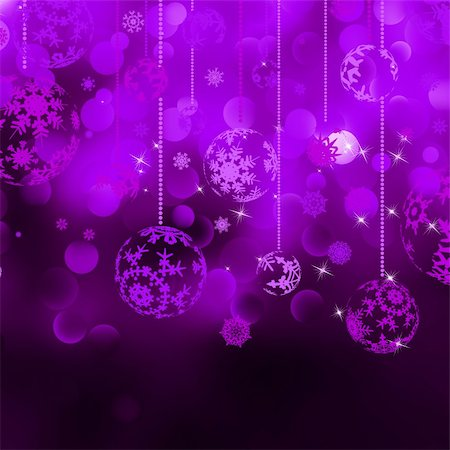 pretty pink star white background - Christmas bokeh background with baubles. EPS 8 vector file included Stock Photo - Budget Royalty-Free & Subscription, Code: 400-05358995