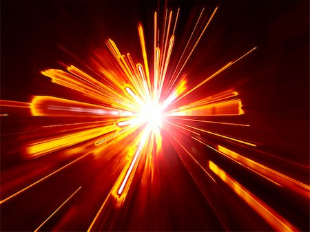 sparks illustration - An image of a red digital explosion Stock Photo - Budget Royalty-Free & Subscription, Code: 400-05359512