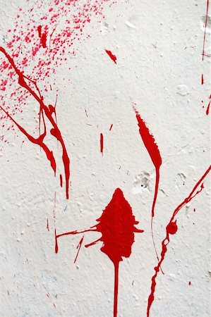 Paint splashed stained grungy white wall. Abstract artistic background texture. Stock Photo - Budget Royalty-Free & Subscription, Code: 400-05352502