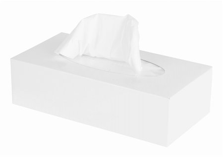 White Box of Tissues Isolated on White Background Stock Photo - Budget Royalty-Free & Subscription, Code: 400-05352906