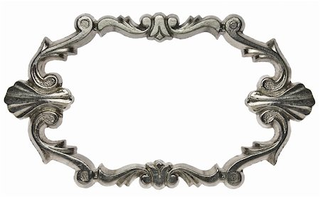 Vintage ornate metal frame, isolated. Stock Photo - Budget Royalty-Free & Subscription, Code: 400-05353410