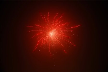 beautiful bright red fireworks on New Year Stock Photo - Budget Royalty-Free & Subscription, Code: 400-05353632
