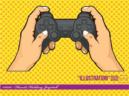 A vector of hands holding a joystick, representing the lifestyle of nowadays children that play with their console often. Available as a Vector in EPS8 format that can be scaled to any size without loss of quality. Good for many uses & application, colors easily changed. Stock Photo - Budget Royalty-Free & Subscription, Code: 400-05364541