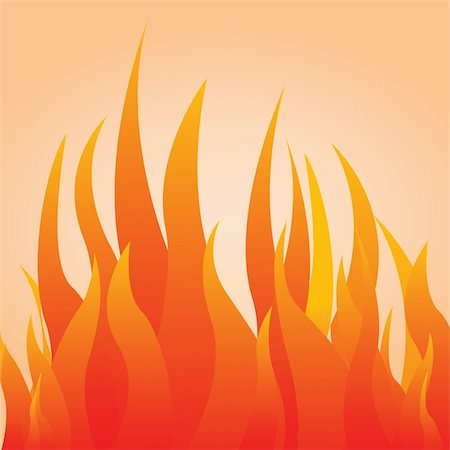 vector illustration of a fire Stock Photo - Budget Royalty-Free & Subscription, Code: 400-05366534