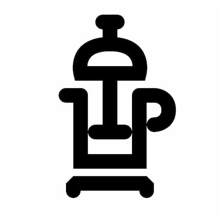 Coffee maker black icon. Icon is aligned according to the pixel grid. It means that the image is prepared to use in small-sizes. For example for the Web. Stock Photo - Budget Royalty-Free & Subscription, Code: 400-05367605