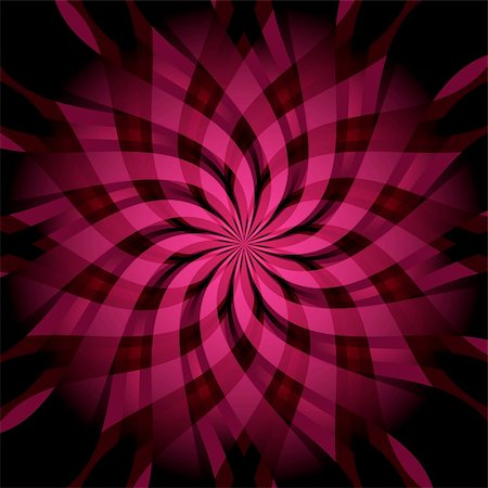 Abstract dark and purple-pink vivid wallpaper with rays and star-flower (vector EPS 10) Stock Photo - Budget Royalty-Free & Subscription, Code: 400-05368677