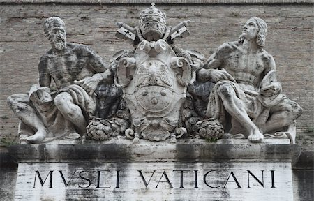 Statues above the entrance to the Vatican Museum Stock Photo - Budget Royalty-Free & Subscription, Code: 400-05369313