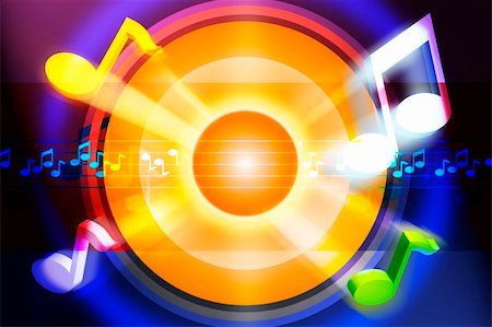 simsearch:400-04676325,k - Music motive in strong colors Stock Photo - Budget Royalty-Free & Subscription, Code: 400-05361503