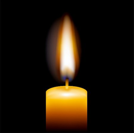 Candle, Isolated On Black Background, Vector Illustration Stock Photo - Budget Royalty-Free & Subscription, Code: 400-05362443