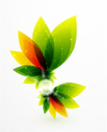 plant leaf paintings graphic - Vector illustration for your design Stock Photo - Budget Royalty-Free & Subscription, Code: 400-05363179