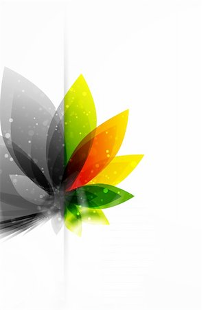 plant leaf paintings graphic - Vector illustration for your design Stock Photo - Budget Royalty-Free & Subscription, Code: 400-05363389
