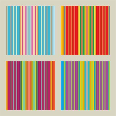 fun happy colorful background images - Four seamless patterns with retro stripes in bright and happy colors Stock Photo - Budget Royalty-Free & Subscription, Code: 400-05363531