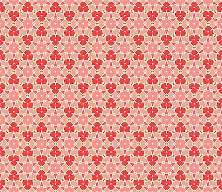 Geometrical vector pattern (seamless) with stars and flowers in orange, red, pink, yellow, green Stock Photo - Budget Royalty-Free & Subscription, Code: 400-05363550