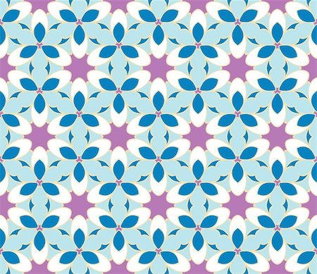 simsearch:400-04765926,k - Stylish design with seamless blue and purple flowers Stock Photo - Budget Royalty-Free & Subscription, Code: 400-05363574