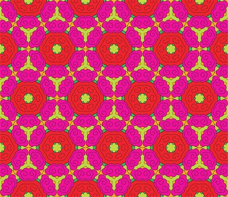 Seamless pattern with romantic pink and red roses with green leaves Stock Photo - Budget Royalty-Free & Subscription, Code: 400-05363614