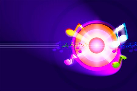 simsearch:400-04676325,k - Colorful and powerful music background Stock Photo - Budget Royalty-Free & Subscription, Code: 400-05363682