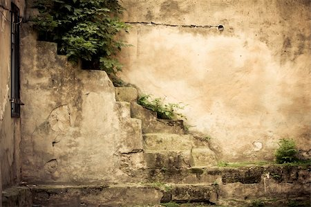 vintage brick wall background with old window Stock Photo - Budget Royalty-Free & Subscription, Code: 400-05374123