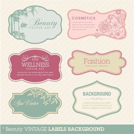 Vintage vector label templates Stock Photo - Budget Royalty-Free & Subscription, Code: 400-05375396