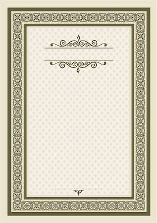 elakwasniewski (artist) - Classical frame for diploma, invitation or certificate. Elements are individually grouped and can be rearranged to change the look or color Stock Photo - Budget Royalty-Free & Subscription, Code: 400-05376513