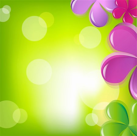flores - Flowers And Bokeh, Vector Illustration Stock Photo - Budget Royalty-Free & Subscription, Code: 400-05377183