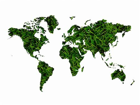 An illustration of a world map cutout of grass Stock Photo - Budget Royalty-Free & Subscription, Code: 400-05379197