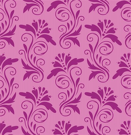 beautiful purple pattern on a pink background Stock Photo - Budget Royalty-Free & Subscription, Code: 400-05371769