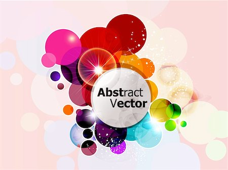 abstract colorful rainbow circle background vector illustration Stock Photo - Budget Royalty-Free & Subscription, Code: 400-05371780