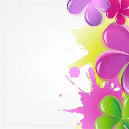 flores - Abstract Flowers, Vector Illustration Stock Photo - Budget Royalty-Free & Subscription, Code: 400-05371833