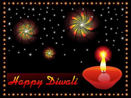 abstract diwali concept wallpaper vector illustration Stock Photo - Budget Royalty-Free & Subscription, Code: 400-05371994