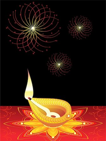 abstract diwali concept vector illustration Stock Photo - Budget Royalty-Free & Subscription, Code: 400-05371995