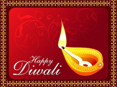 abstract diwali concept wallpaper vector illustration Stock Photo - Budget Royalty-Free & Subscription, Code: 400-05371996