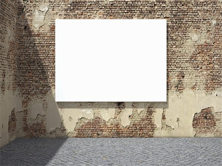 enki (artist) - Blank street advertising billboard on dirty grunge wall Stock Photo - Budget Royalty-Free & Subscription, Code: 400-05373709