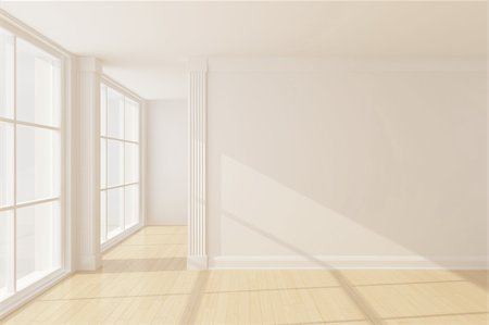 enki (artist) - Empty new room with big window Stock Photo - Budget Royalty-Free & Subscription, Code: 400-05373700